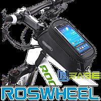 Велосипедная сумка на раму для смартфона Roswheel M Черная