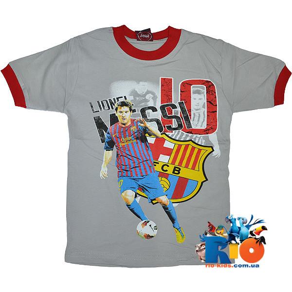 """Летняя футболка """"Messi"""" , трикотаж , для мальчика (рост 110-116-122-128-134 см)"""