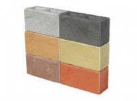 Декоративный колотый бетонный стеновой блок 350х190х140