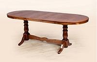 Стол обеденный деревянный раскладной  Атаман 1,2, орех