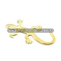 """Объемная наклейка """"Саламандра"""" золотистого цвета"""