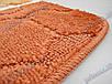 Коврик для ванной, 60х100см. цветы из сердечек, оранжевый, фото 3