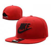 Кепка Snapback Nike красная с черным-209