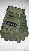 Перчатки тактические , защитные полнопальцевые перчатки  Oakley(олива,черные), фото 1