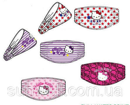 Детская повязка-косынка на голову для девочки Hello Kitty, Sun City, фото 2