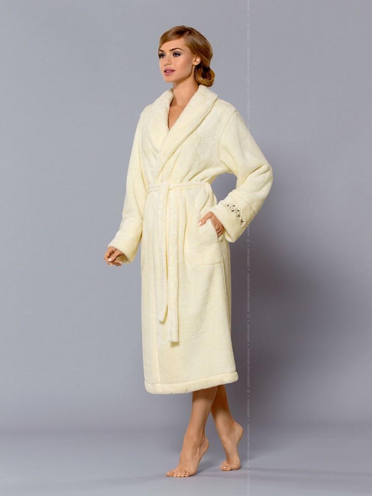 Теплий жіночий халат для дому із поліестеру L&L MADEA dl