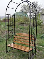 Садовая скамейка-арка для вьющихся растений