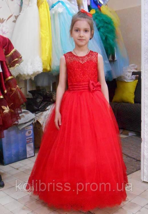 """Шикарное гипюровое платье """"Адриана"""" прокат Киев"""