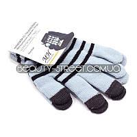 Перчатки с чувствительными пальцами для телефона и других Touch-устройств (сине - черные)