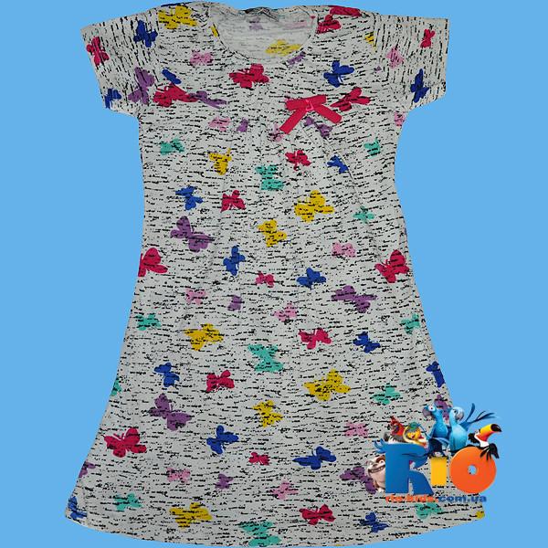 """Детское  платье """"Бабочки"""" , трикотаж , для девочек от 1-4 лет"""