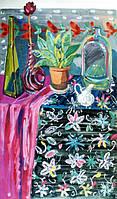 """Елена Придувалова, """"Натюрморт с розой"""" (серия: """"Натюрморты"""", гуашь)"""