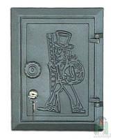 Дверка чугунная DKR 4 с замком