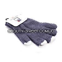 Перчатки с чувствительными пальцами для телефона и других Touch-устройств (серые)
