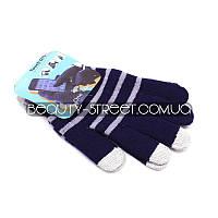 Перчатки с чувствительными пальцами для телефона и других Touch-устройств (фиолетово - белые)