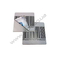 Защитная этикетка РЧ штрих-код квадратная, фото 1