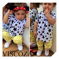 Блузка детская черная Звезда