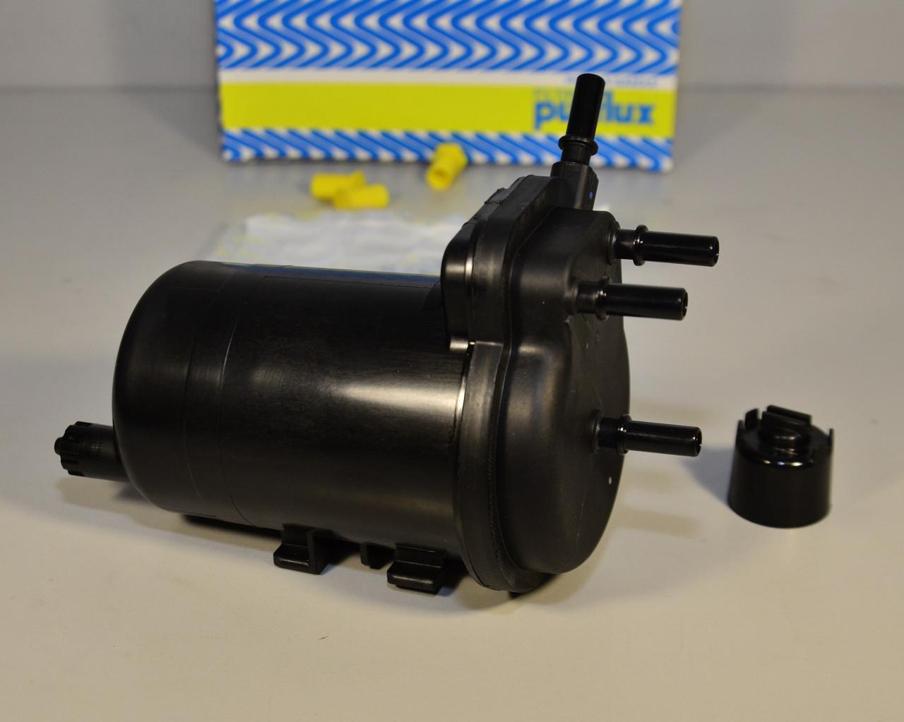 Топливный фильтр (с отверствием под датчик воды + заглушка)  на Renault Kangoo 2001->2008 1.5dCi  — PX FCS748