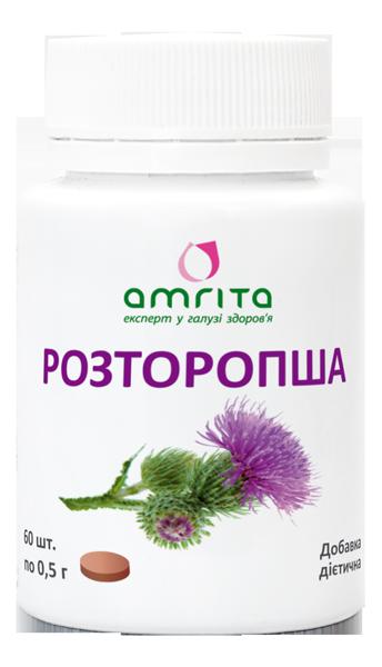 Расторопша-натуральные таблетки для печени,Защита Вашей печени (60табл., Амрита,Украина)