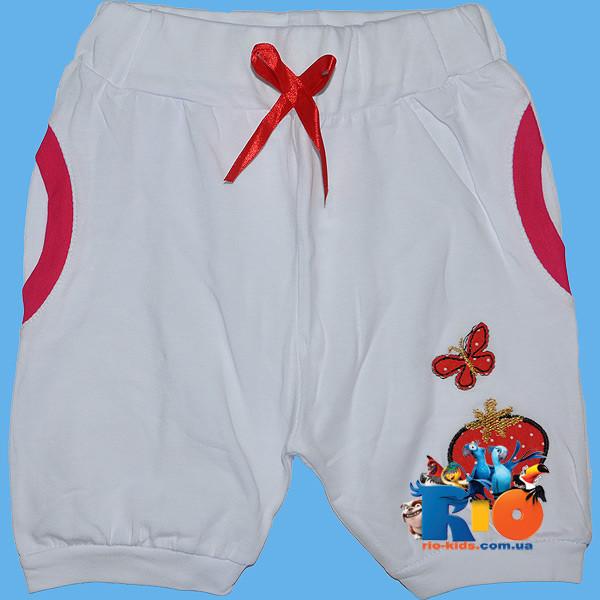 """Летние шорты """"Клубничка"""" , трикотаж , для девочки от 5-8 лет"""