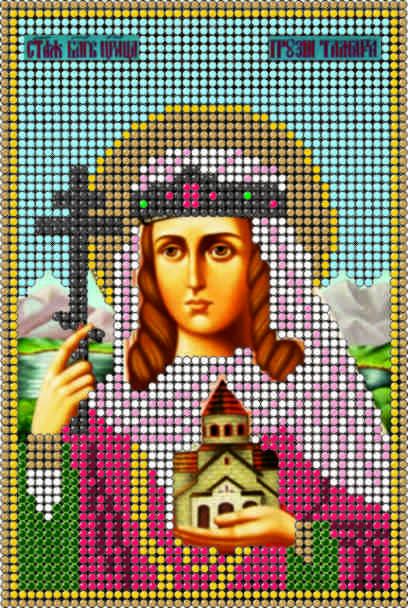Схема для вышивания бисером икона Св. Мч. Царица Тамара КМИ 5148 - Elite Home в Херсонской области