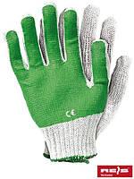 Рабочие перчатки трикотажные с ПВХ покрытием