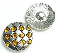 СБЧ1600-5-1 Кнопка чанка для браслета Noosa ромбы