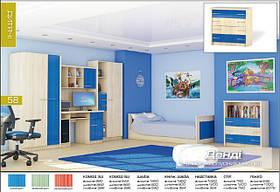 Спальня Денди детская (красный, синий, зеленый)