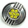 СБЧ1600-5-1 Кнопка чанка для браслета Noosa цветок с полосами