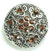 СБЧ1600-5-1 Кнопка чанка для браслета Noosa цветы