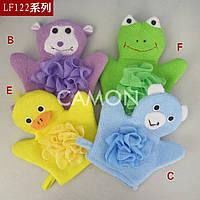 Мочалка-рукавичка «Зверята» для купания самых маленьких