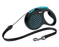 Поводок-рулетка для собак Trixie Flexi Design M - 5 м, до 20 кг, трос
