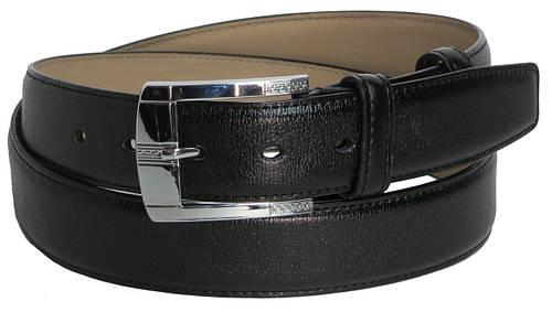 Брючный мужской кожаный ремень 2479 чёрный ДхШ: 122х3,5 см.
