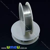 Проволока металлическая, 0,4 мм, Серебристая, 1 Катушка, 12 м (LES-015600)