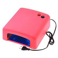 УФ-лампа, 36 Ватт, таймер 2 мин. Розовая