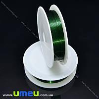 Проволока металлическая, 0,4 мм, Зеленая темная, 1 Катушка, 12 м (LES-015601)