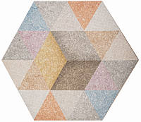 Плитка Атем для пола HEXAGON R Rainbow Mix 346 х 400 (Гексагон напольная серая)