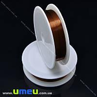 Проволока металлическая, 0,4 мм, Коричневая, 1 Катушка, 12 м (LES-015597)
