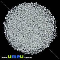 Бисер мелкий, 12/0, Белый прокрашенный, 2 мм, 25 г. (BIS-015695)