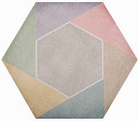 Плитка Атем для пола HEXAGON Rainbow Mix 346 х 400 (Гексагон напольная серая)