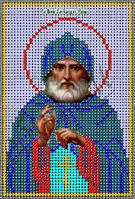 Схема для вышивания бисером икона Св. Александр Свирский КМИ 5151