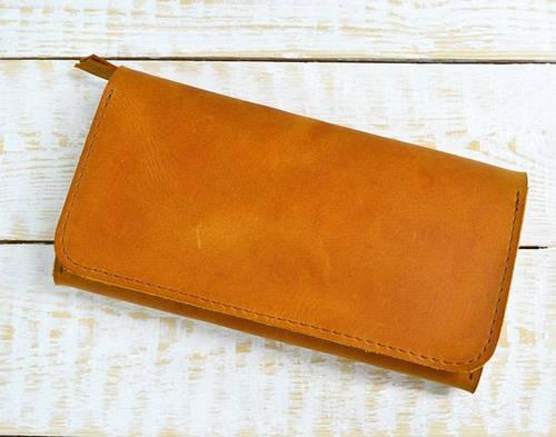 Эксклюзивное портмоне из натуральной кожи GBAGS  W.0009-CH рыжий