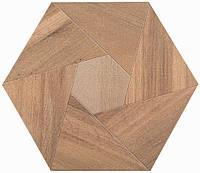 Плитка Атем для пола Atem Hexagon WOOD YL 400 х 400 (Гексагон Вуд напольная желтая)
