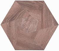 Плитка Атем для пола Atem Hexagon WOOD M 400 х 400 (Гексагон Вуд напольная коричневая)