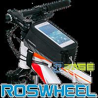 Велосипедная сумка на раму для смартфона Roswheel Elite M Черный
