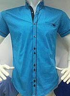 Яркая весенняя мужская рубашка
