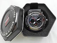 Часы  G-Shock - Gulfmaster Gold, черный безель, стальной бокс, черные