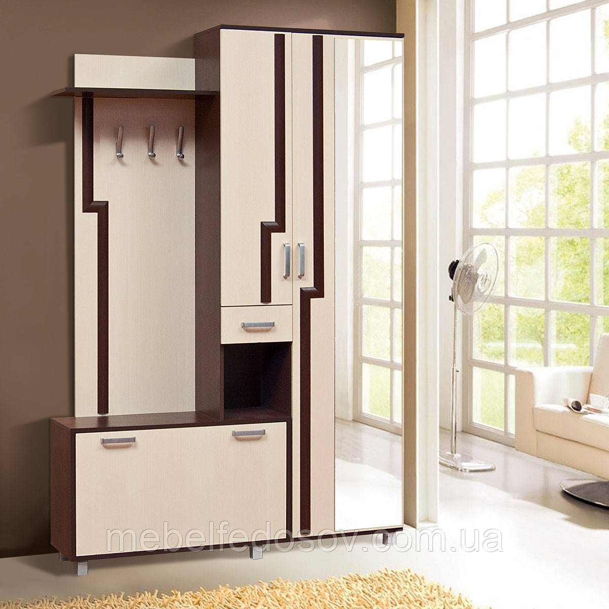 Прихожая Реприза  (Світ мебелів) 1400х375х2090мм