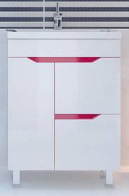Тумба с умывальником Кварта-Техно розовая ТМ ЛЕОС