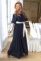 Женское длинное платье в горох ВХ8020, фото 1