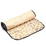 Масажний килимок для стоп з натуральної галькою 90х40 см Олві, (Україна), фото 2